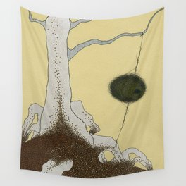 white tree Wall Tapestry