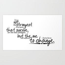 To Change Art Print