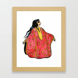 Lady in Red Thobe Framed Art Print