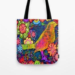'SAFE HAVEN' Mixed Media Collage Pop Art Tote Bag