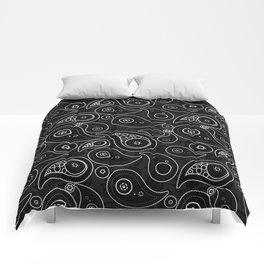 Black Paisley Pattern Comforters