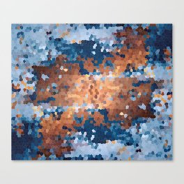 Copper and Denim Abstract Canvas Print