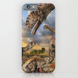 Jurassic dinosaurs being born iPhone Case