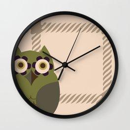 Owls and Tweed Wall Clock