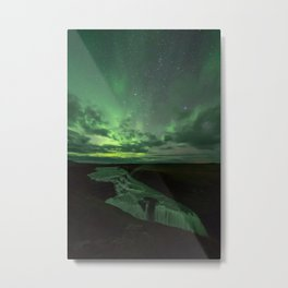 Gullfoss under the Northen Lights - Iceland Metal Print