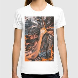 Abstract Painting - Volcano Eruption Aerial T-shirt