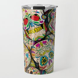 Sugar Skull Collage Travel Mug