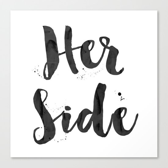 her side Canvas Print