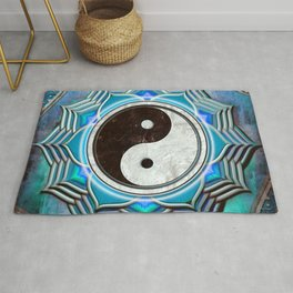 Yin Yang - Healing Of The Blue Chakra Rug