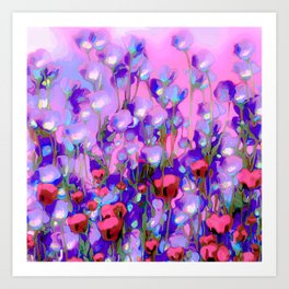 Spring Blush too, Mauve Moods Art Print