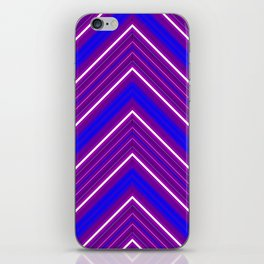 Modern Diagonal Chevron Stripes in Shades of Blue and Purple iPhone Skin