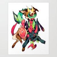 gore Art Prints featuring GLITTER GORE by alipeanut
