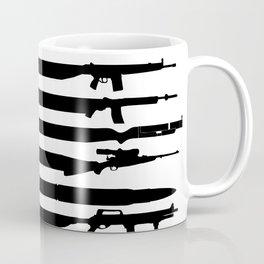 American Flag Guns , Shirt for Veteran, 4th of July, USA Flag With Guns Rifles, 2A Tshirt, 2nd Amendment Shirt For Gun Lover Owner  Coffee Mug