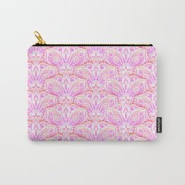 Pink Floral Mandala Pattern Carry-All Pouch