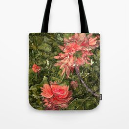 Pink flowers by Lika Ramati Tote Bag