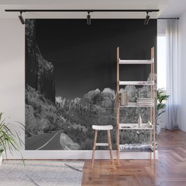 Zion Park View in B&W Wall Mural