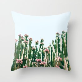 Blush Cactus #society6 #decor #buyart Throw Pillow