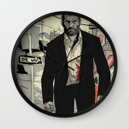 Logan in the city Wall Clock