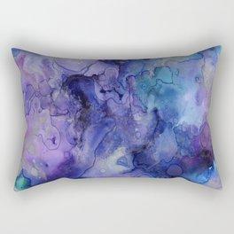 Watercolor Ink Abstract Rectangular Pillow