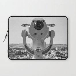 Pretty old binocular at Metropol Parasol in black and white Laptop Sleeve