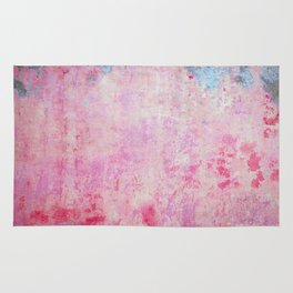 abstract vintage wall texture - pink retro style background Rug