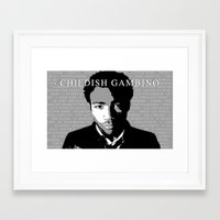 childish gambino Framed Art Prints featuring Childish Gambino by Dan Still