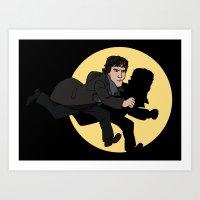 tintin Art Prints featuring Sherlock Adventures by jasesa