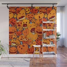Halloween pumpkin pattern Wall Mural