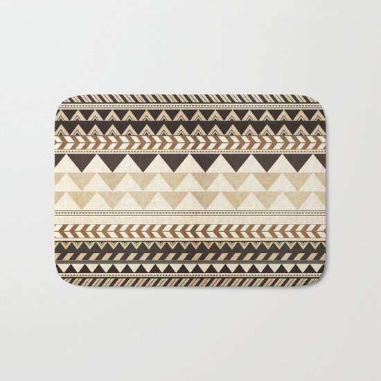 Woodwork Pattern Bath Mat