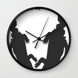 Crocodiles Heart Design Wall Clock
