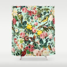 Floral and Birds III Shower Curtain