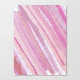 Pink Stripes at Angle 1 Canvas Print