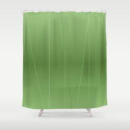 Green Line Design Shower Curtain