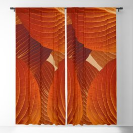 Leaves in Terracotta Color #decor #society6 #buyart Blackout Curtain