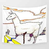 dali Wall Tapestries featuring Dali Llama by Andooga Design