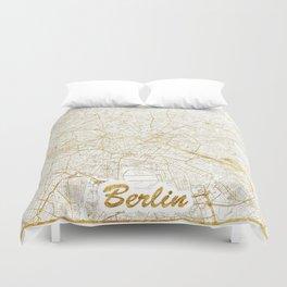 Berlin Map Gold Duvet Cover