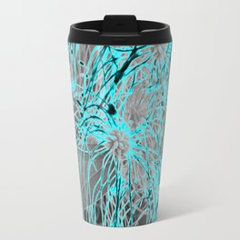 Electric Orbs - Teal Travel Mug