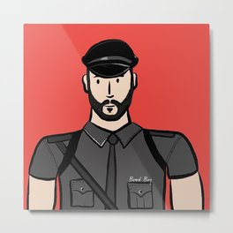 Beard Boy: Alberto Metal Print
