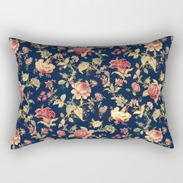 Shabby Floral Print Rectangular Pillow