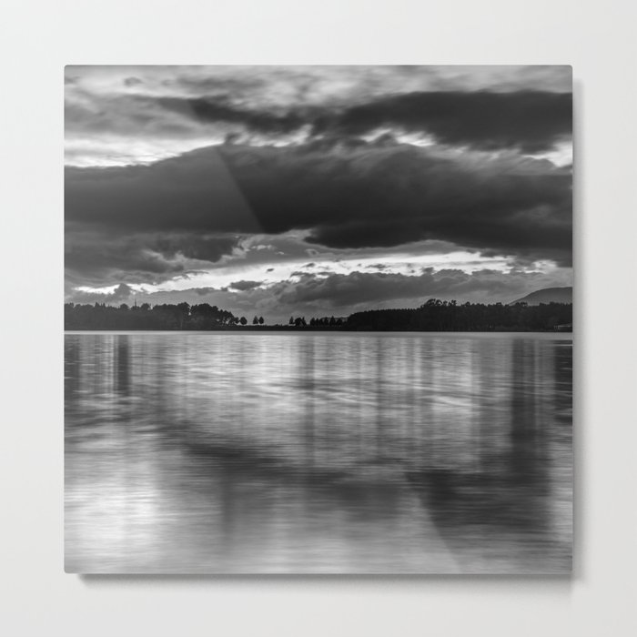 """Sunset After The Storm""  BW Metal Print"