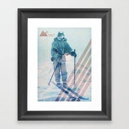 Husky Exploration Framed Art Print