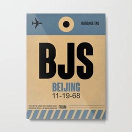 BJS Beijing Luggage Tag 2 Metal Print