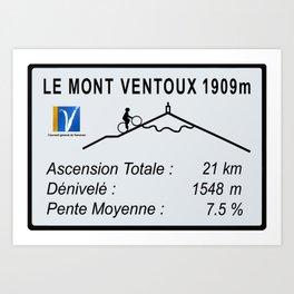 Mont Ventoux Sign Art Print