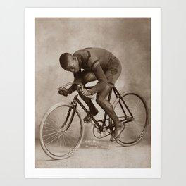 1898 Marshall Major Taylor Cycling Legend 2 Art Print