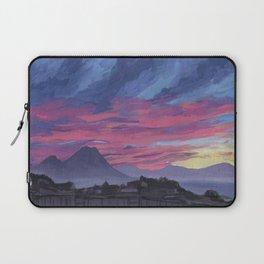 Sunrise behind Vesuvius, New Year Laptop Sleeve