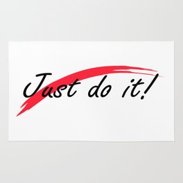 Just do it! with red line Rug