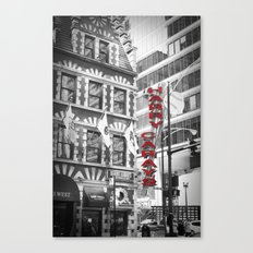 Red Harry Caray's Black and White Chicago Photography Canvas Print