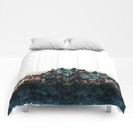 """""""Indigo Blue Skyline"""" Comforters"""