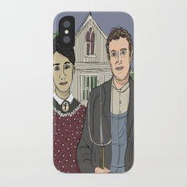 """American Gothic TwentyTwelve"" (ode to Facebook) iPhone Case"