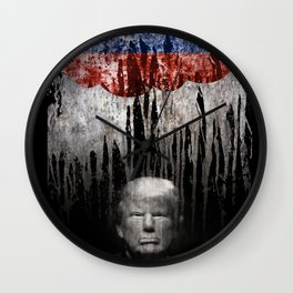 Trump Under The Russian Cloud. When it rains, it pours. Wall Clock